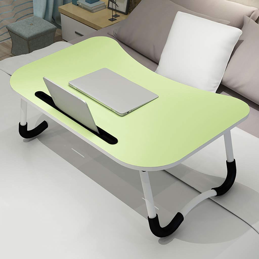 WENJUN Foldable Laptop Desk Portable Laptop Desk Folding PC Desk Bed Sofa Laptop 4colors, (Color : Green)