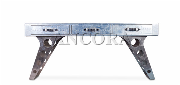 Exceptionnel Model: Aluminum Aviator Office Desk L885