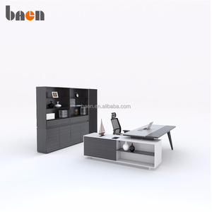 Modern design director desk exectuve table with back cabinet