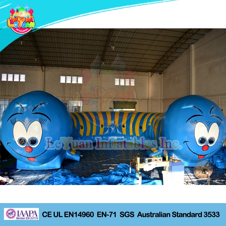 Children Inflatable caterpillar tunnel / caterpillar inflatable obstacle course for kids