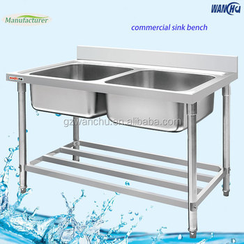Stainless Steel Work Table With Double Sink Best Home Interior - Stainless steel work table with sink