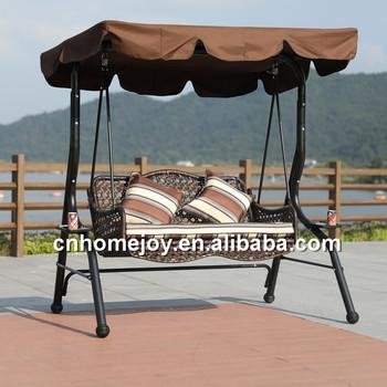 Modern Patio Swing Chair Rattan Hanging Chair Resort Swing Chair