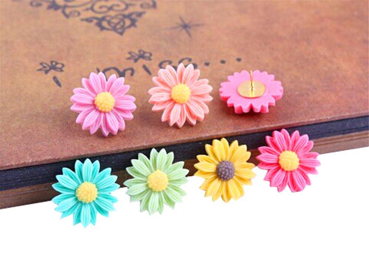 Kangkang@ Creative Office Item/colorful Floret Series Pushpins/10 Piece/random Color Creative Office Item/colorful Floret Series Pushpins/10 Piece/random Color