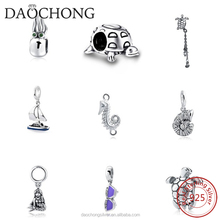 cheap wholesale 925 sterling silver beach european bead charms for bracelet making