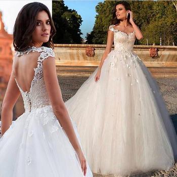 Vestidos de novia con flores 3d