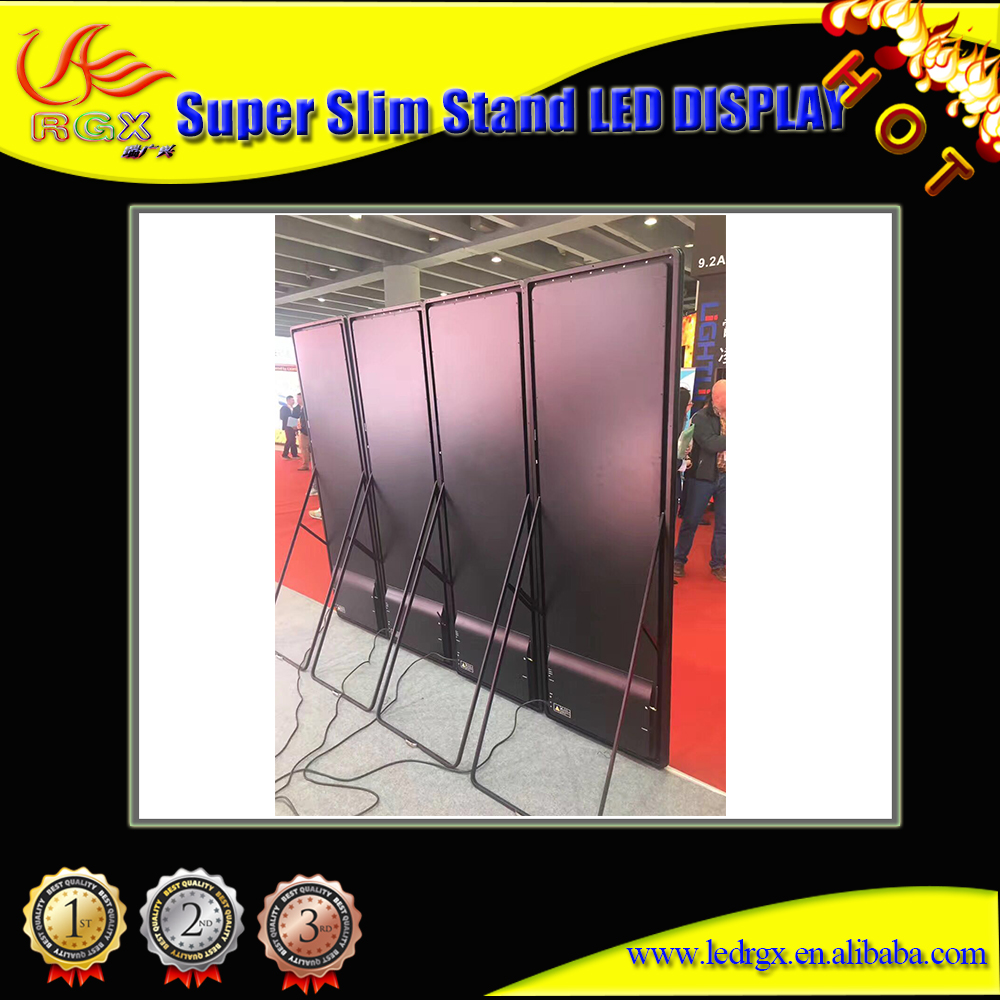 RGX P2 3g Wireless Indoor Shop Window Advertising Led Mirror Video <strong>Screen</strong>
