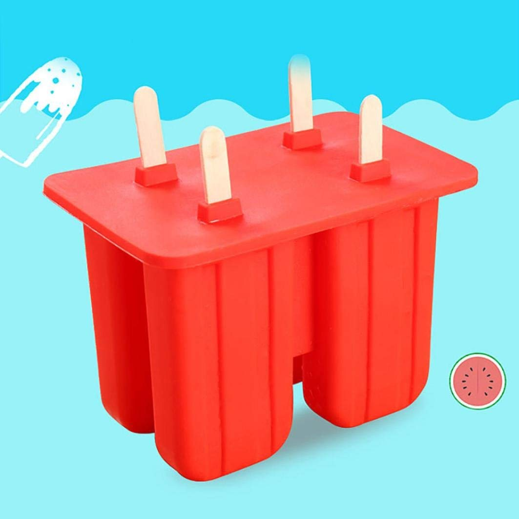 ice molds for whiskey-Vibola Silicone Popsicle Mold Ice Cream Tray Summer Cool Ice Popsicle Mold