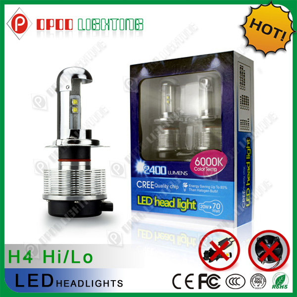 2014 Factory direct sell IP68 12-24V 40w 4800LM car h4 led motorcycle headlight bulbs