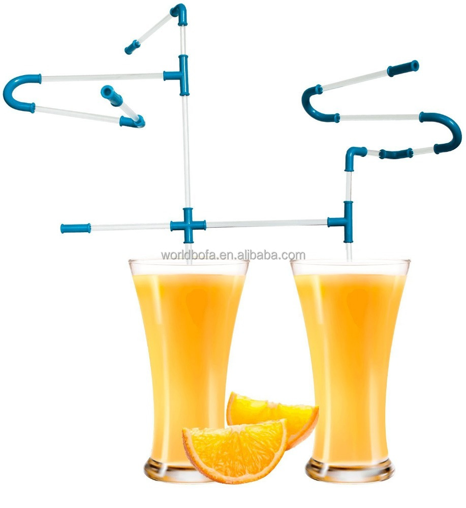 Novelty DIY Drinking Pipe Connector Straws 21 Pieces