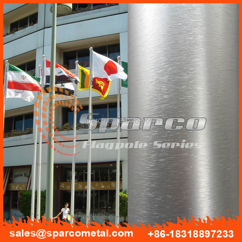 Singapore project manual winch aluminium alloy flagpole