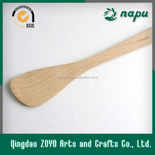 Beech Wooden Slotted Spatula Spoon