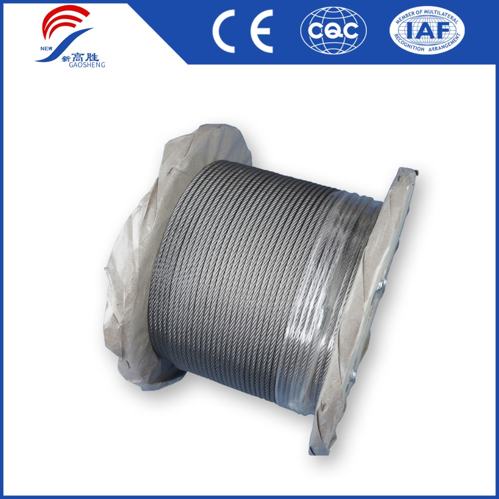 High Quality Ungalvanized Wire Rope Tension Metal Steel Cable