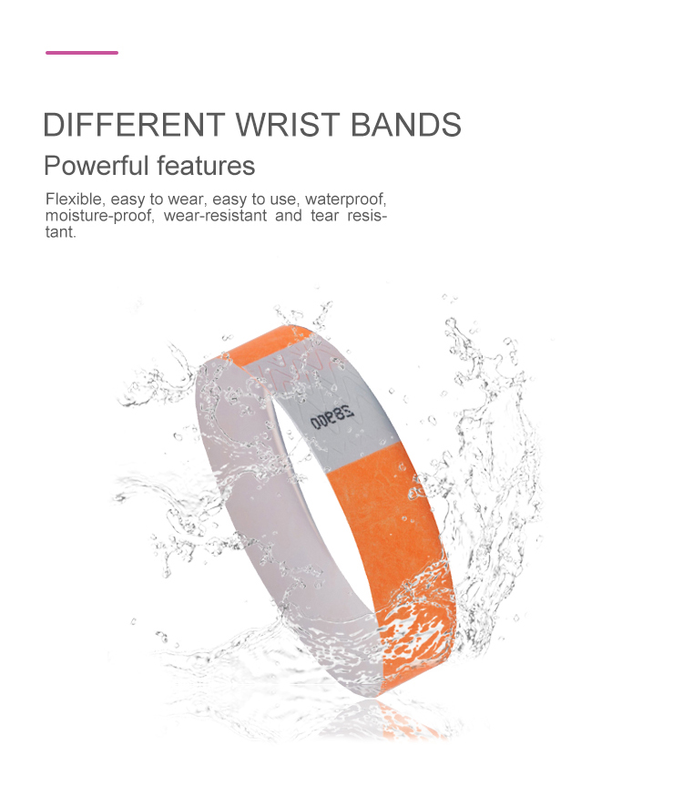 wholesale Disposable 13.56Mhz NFC paper wristband