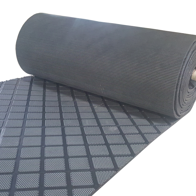 embossed anti slip design cow mat rubber