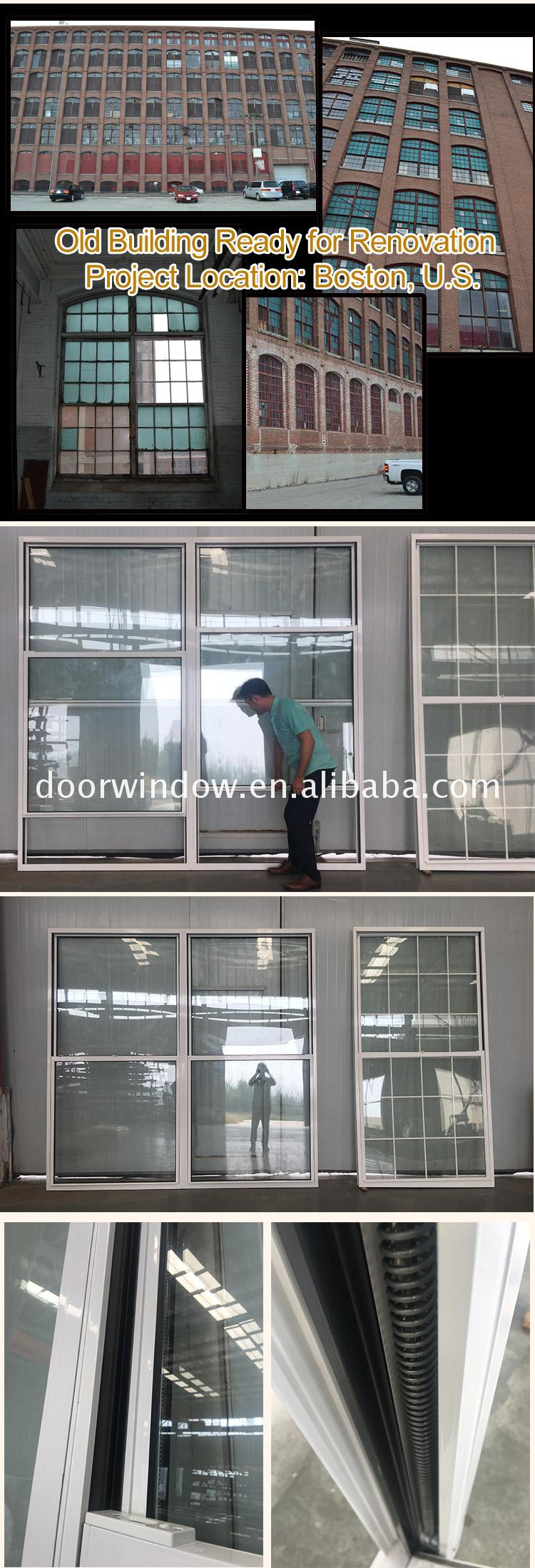 Ultra clear glass single  triple hung alu windows