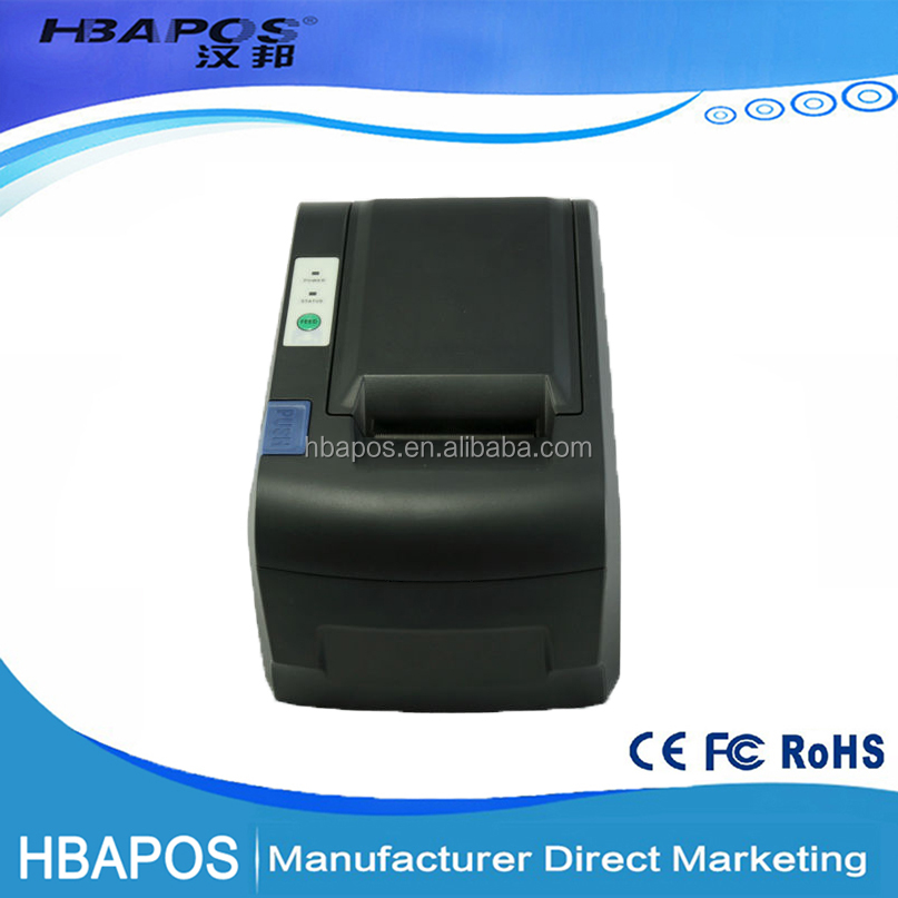 HBA-58G Pos thermal receipt printer with Pos 58 printer thermal driver