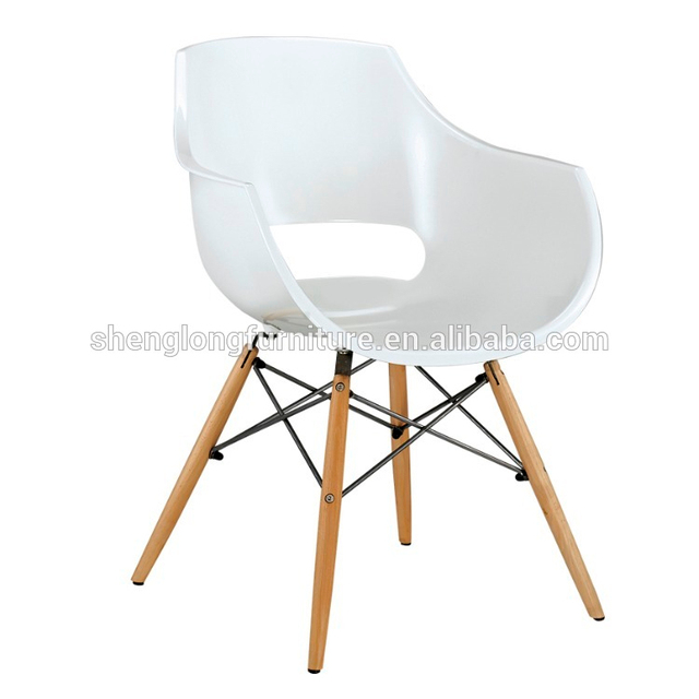 hot sale classic white plastic garden chair
