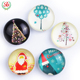 2019 Customized Dome Crystal Glass Fridge Magnet