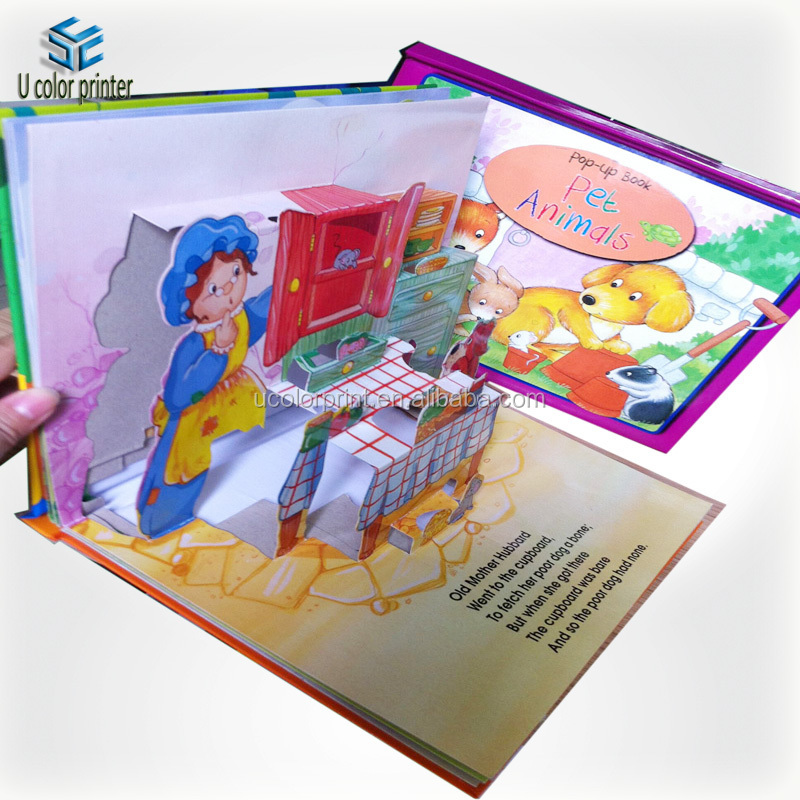professional manufacturer custom new design children book printing printing children board book pop up - Printing With Children