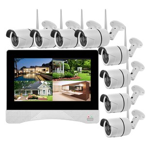 Good Budget! H.265 1080P 8CH LCD Screen Monitor Display NVR Kit Home Digital Video Surveillance System Wireless Camera NVR Kit