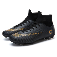 Spot Drop-shopping Cheap Soccer Shoe Most popular design Breather Cleats Professional Shoes Football Soccer Boots for Men