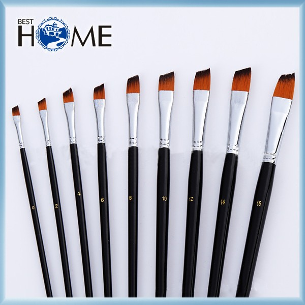 Wholesale art paint brush set with wooden handle buy art for Wholesale craft paint brushes