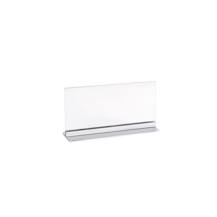 A3 Acrylic label name card display holder with metal stand