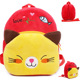 1-2 years old children bag cute short plush backpacks pink and red cat school backbag lovely girl gift toys for children