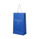 Free samples custom logo blue stamping printing gift packaging red wine paper bags