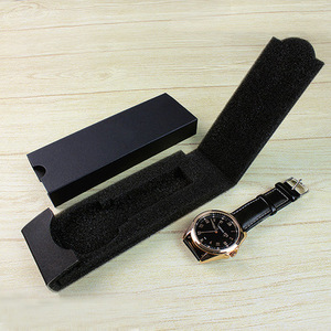 Custom branded unique foldable black cheap watch gift box