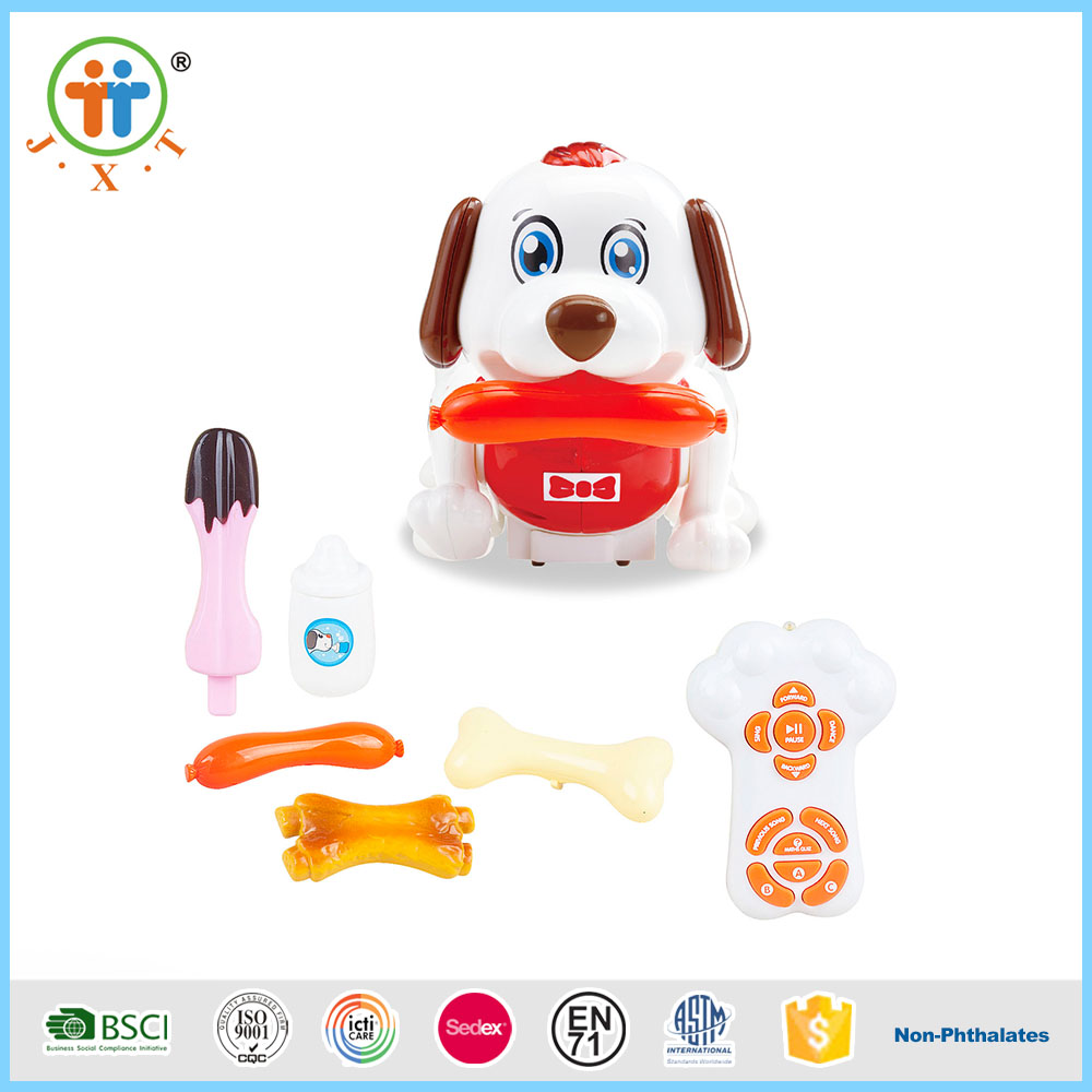 Funny smart radio control animals rc plastic dog toys for kids with music