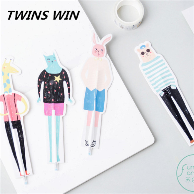 korean style list of office stationery items names gift promotion custom cute cartoon paper bookmarks