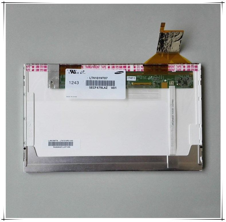 1024x600 LVDS SAMSUNG 10.1 inch TFT LCD Screen Display LTN101NT07-W01