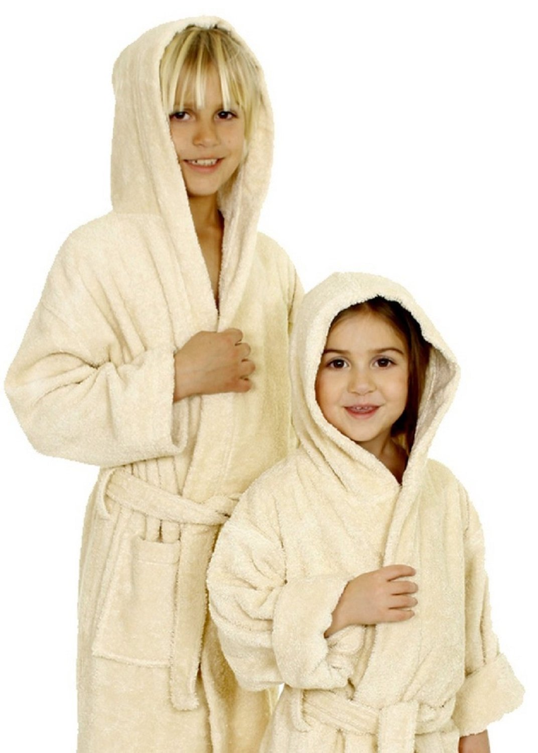Kids Terry Cloth Robe 100% Cotton Kid s Hooded Bathrobe for Girl and Boy 30dc5f934