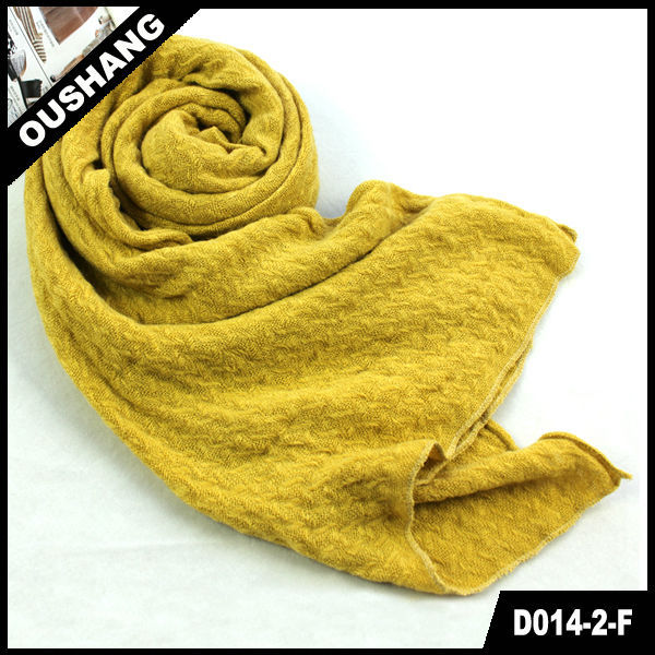 D014-2-F Ginger Scarf Solid Color Pashmina Stoles