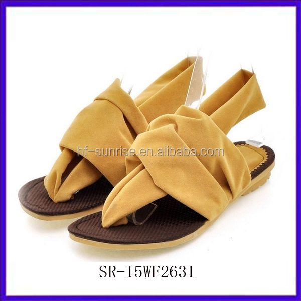 Sr-15wf2633 New Stylish Women No Heel Sandals Summer Fashion ...