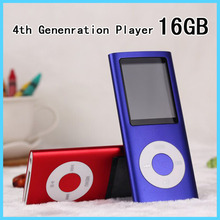 New 4th Gen 16GB 1.8 inch Lcd Screen MP3 Player Comes With 16G Of Memory And Voice Recorder/FM Radio Function Music Media Player