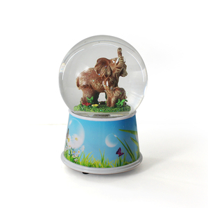 custom music elephant rotate snow globe souvenir