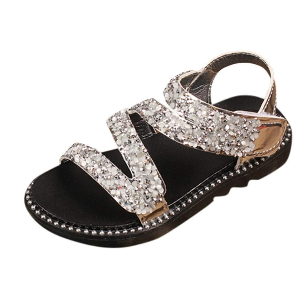 f7318a0943a06 Get Quotations · WOCACHI Baby Girls Shoes Crystal Bling Sandals Infants Kid Girls  Children Beach Princess Shoes