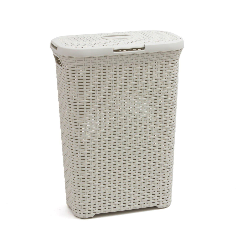 Get Quotations Curver Rattan Laundry Hamper Vintage White 40l