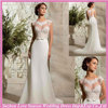 WL0035 Cap sleeve lace top heart patters chiffon like satin sexy mermaid wedding dresses in many style beach weding dress