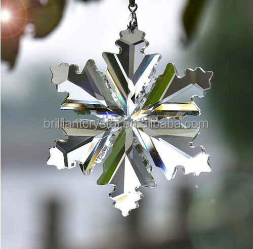 Hanging Crystal Snowflake Pendant Home Decoration Car Ornaments New Year Decor Gifts