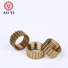 Top quality knurled brass insert nut with or without collar