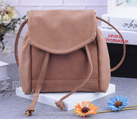 Cute fashion daily nubuck leather teenger drawstring school backpack ladies backpack bags