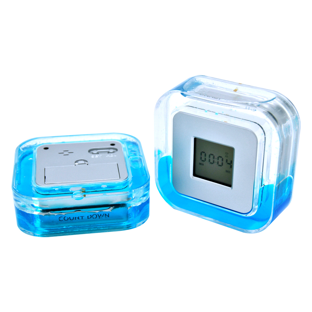 PN-1091 Small Beautiful Four Sided Electronic Clock with Water