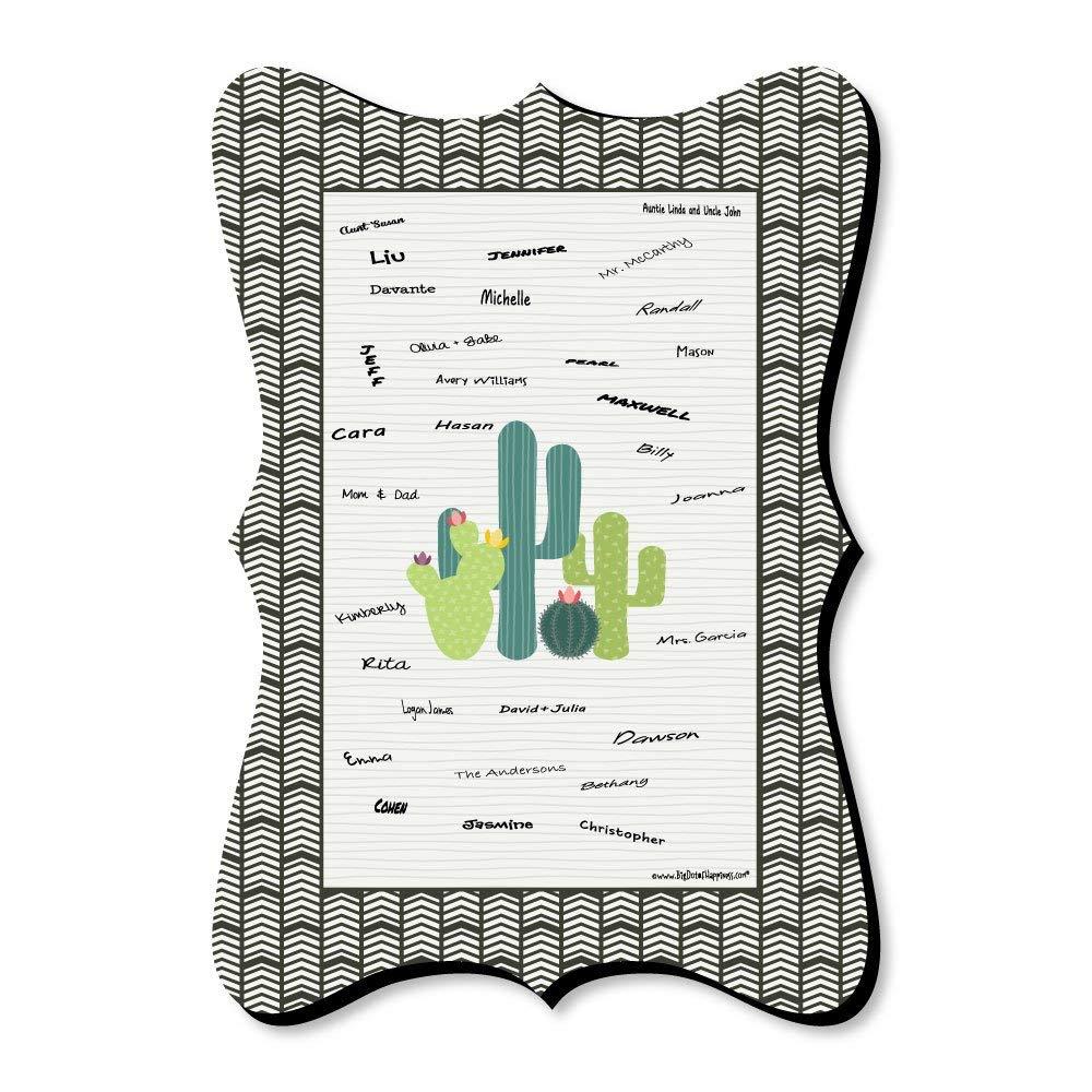 Prickly Cactus Party - Unique Alternative Guest Book - Fiesta Party Signature Mat