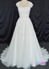 L0568 cap sleeves key hole back A line bridal gowns