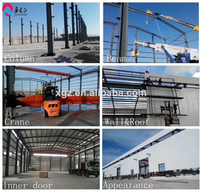 prefabricated light steel structure of warehouse