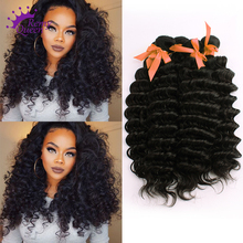 7A Malaysian Virgin Hair Deep Wave 5Pcs Deals 100 Unprocessed Virgin Hair Curly Remy Queen Hair