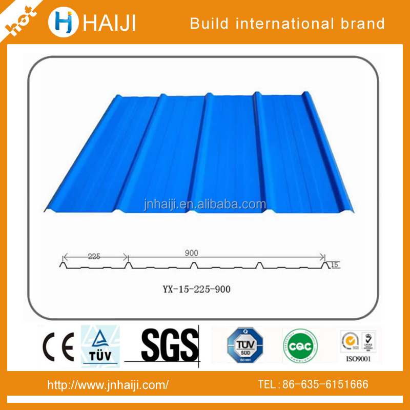 800 mm x 3050 mm x 0.45 mm thickness Structure steel & corrugated steel sheet